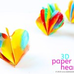 Valentine Paper Crafts Kids Valentines Day Craft 3d Paper Hearts Babble Dabble Do Fi