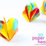 Valentine Paper Crafts Kids Valentines Day Craft 3d Paper Hearts Babble Dabble Do Fi valentine paper crafts kids|getfuncraft.com