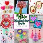 Valentine Paper Crafts Kids Valentines Day Crafts Round Up 1