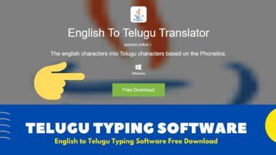 Telugu Typing Software