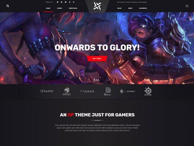 PlayerX wordpress gaming theme
