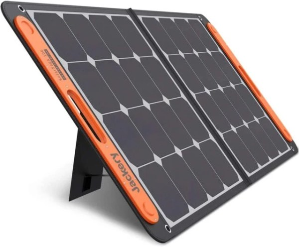 Jackery SolarSaga 100W Portable Solar Panel for Explorer 160/240/500/1000 Power Station, Foldable US Solar Cell Solar Charger with USB Outputs for Phones (Can't Charge Explorer 440/ PowerPro)