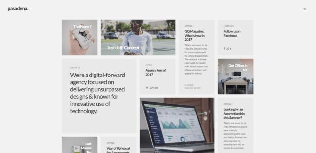 Pasadena - Contemporary Portfolio WordPress Theme for Creatives