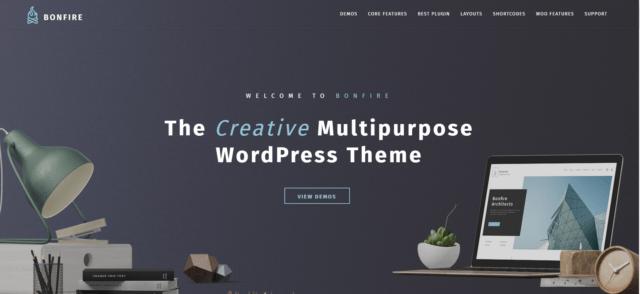 Bonfire - Creative Multipurpose WordPress Theme