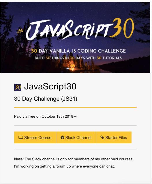Gist Javascript30 Challenge