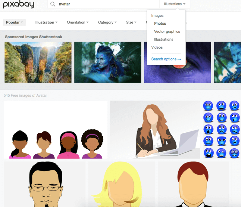 lead Pixabay Avatar Search