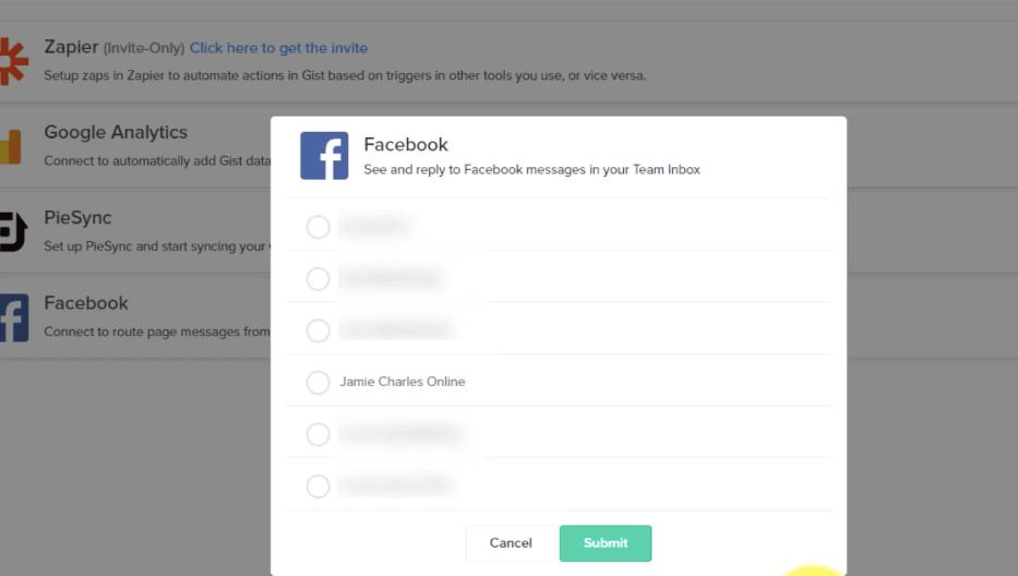 Gist Facebook Page Integration