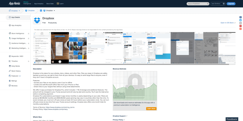 Digital Marketing App Anie Search Content