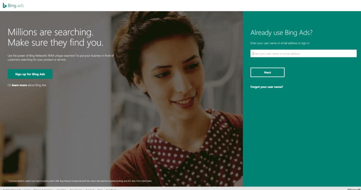 Digital marketing bing ads