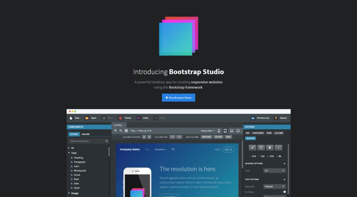 Digital Marketing Bootstrap studio