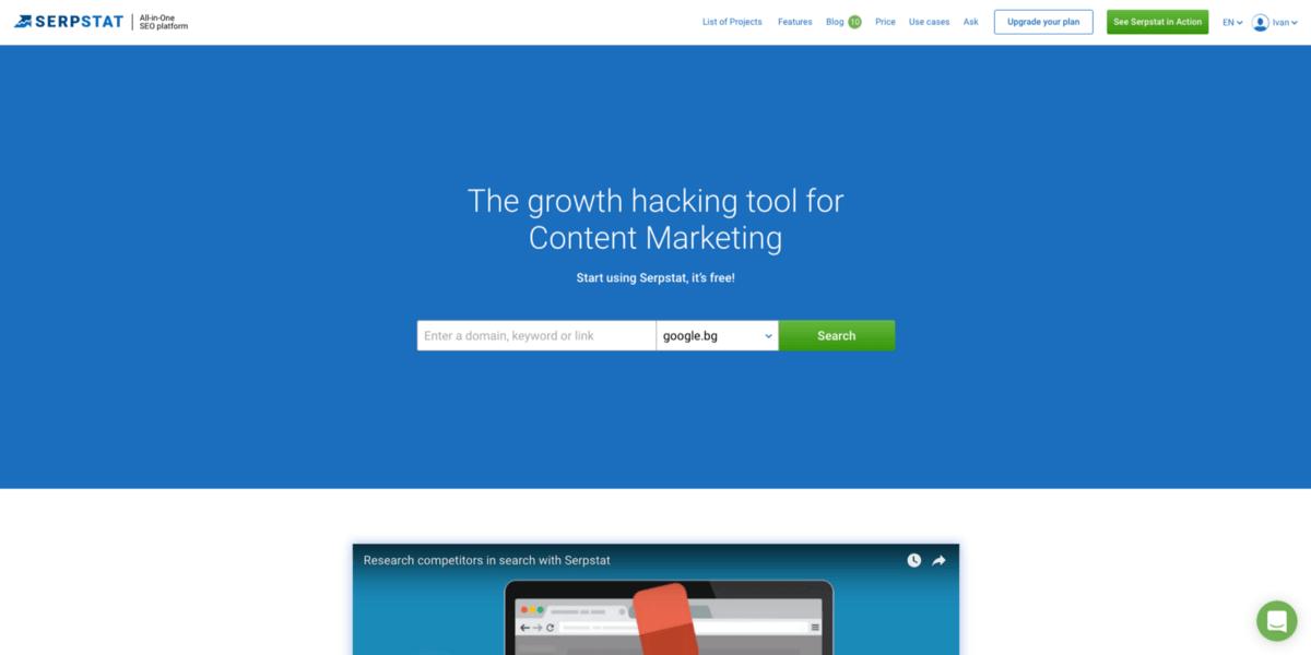 Digital Marketing Serpstat