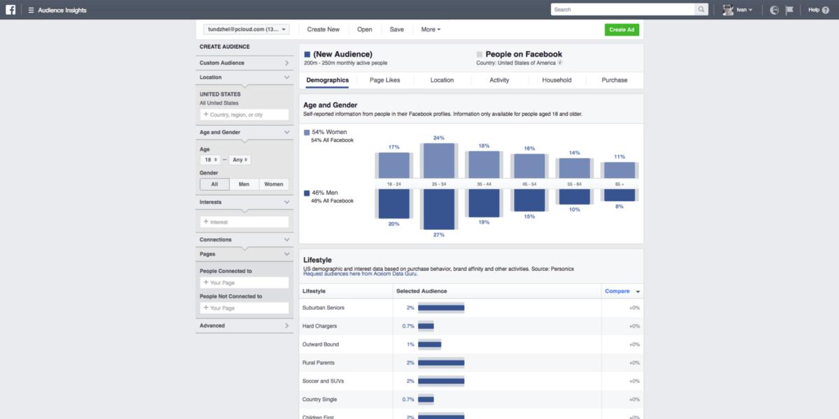 Digital Marketing Facebook Audience Insight