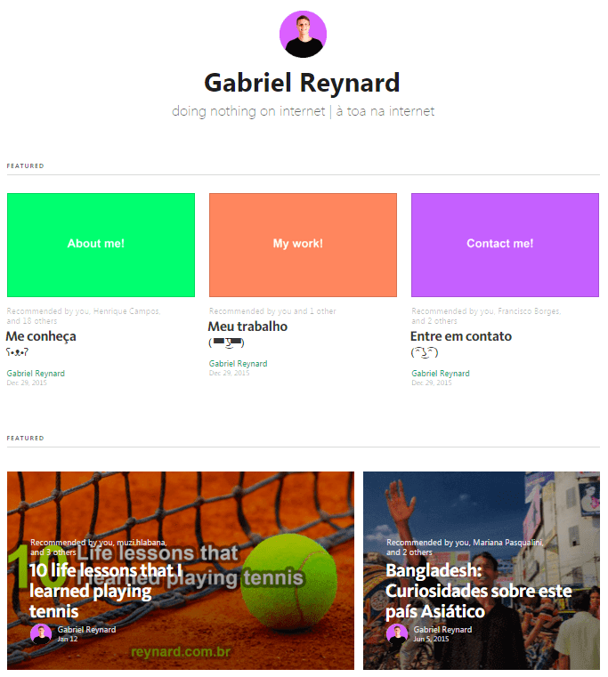 how to blog on medium Gabriel Reynard Profile