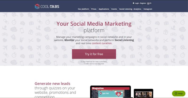 Social Media Cool Tabs