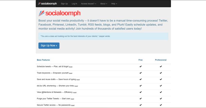 Social Media Social Oomph