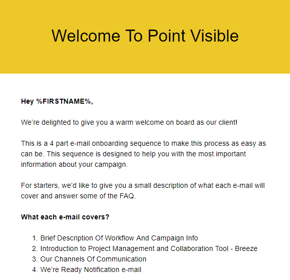Welcome to point Visible