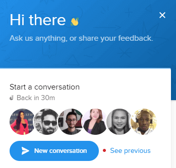Live chat Pop-up box