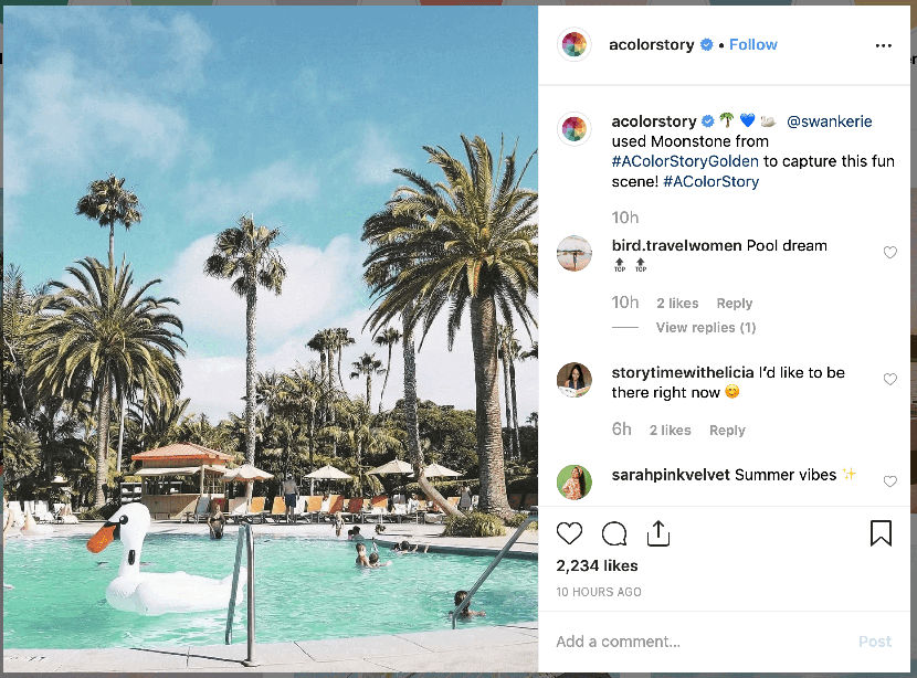 Social media for SaaS: How A Color Story uses user generated content