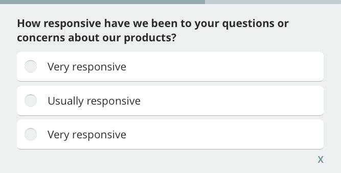 Customer support feedback survey