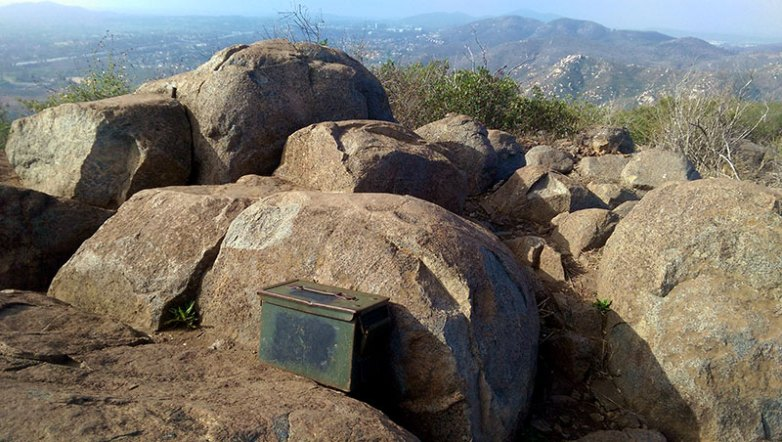 Bernardo Mountain Summit Marker