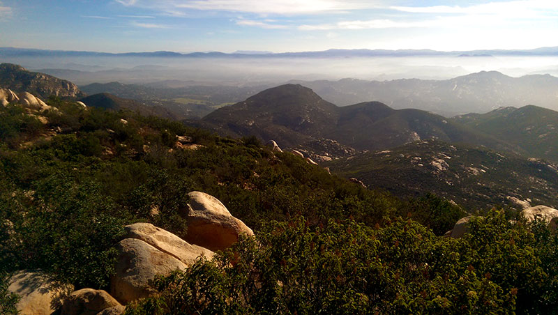 Looking NE from Iron Mountain Trail