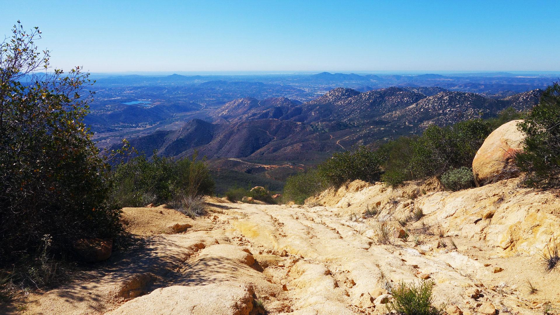 ... Rugged Trail Ahead On El Cajon Mountain ...