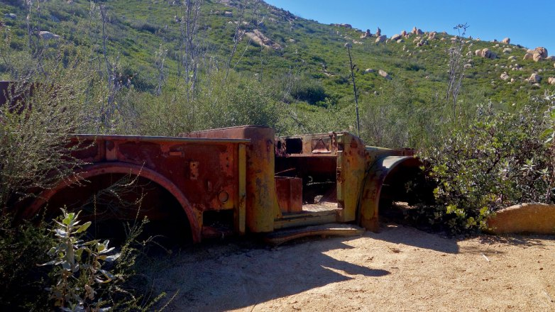 Stranded Rust Bucket on El Cajon Mountain Trail