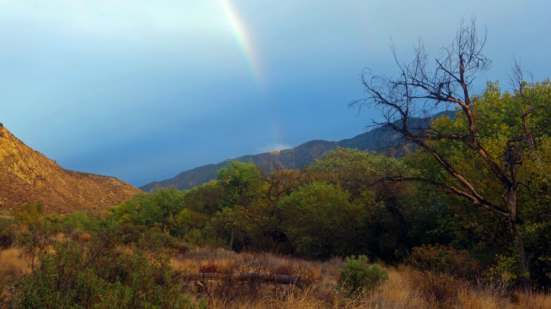 At the end of the rainbow - Willet Hot Springs Tub - Our Campsite - Hiking and Camping in Los Padres National Forest