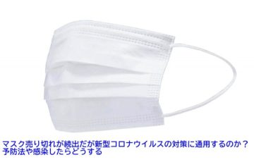 マスク売り切れが続出だが新型コロナウイルスの対策に通用するのか?予防法や感染したらどうする