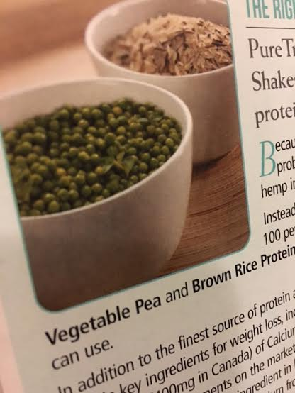 Two popular plant-based proteins for shakes are pea and brown rice