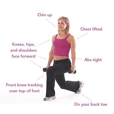 Want a tight butt and long and lean legs! Do our 28-Day Lunge-A-Palooza Challenge!