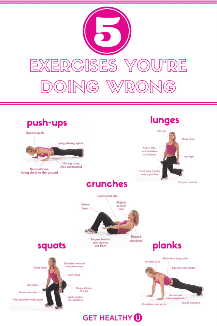 This graphic depicts the 5 workouts that are most typically being wrong!