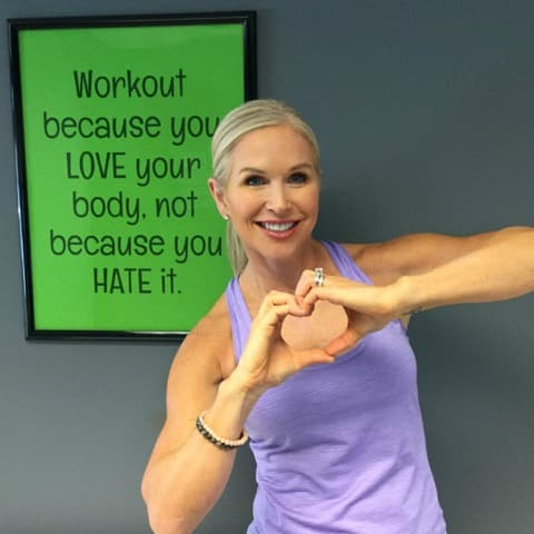 #MyChangeofHeart is to help others improve their heart health by teaching workout classes 5 days a week!