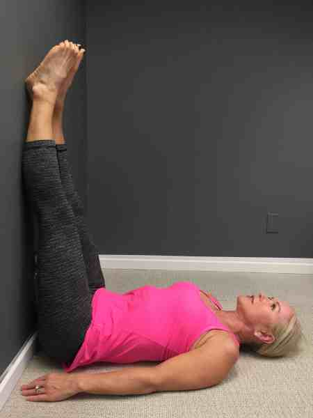 Learn how inversions like Legs Up the Wall pose help ease anxiety.