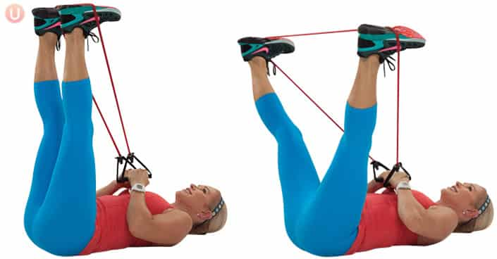 Grab your resistance band for this move that targets the thighs.