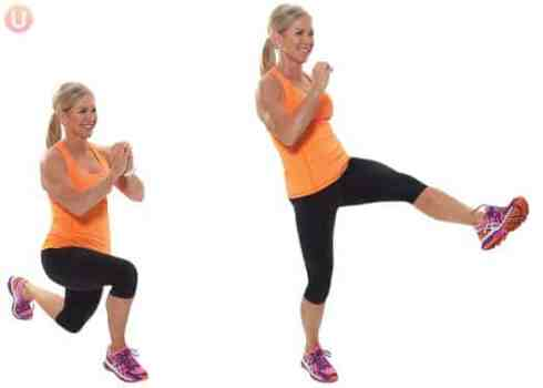 This is the kick through lunge exercise demonstrated by Get Healthy U founder Chris Freytag.