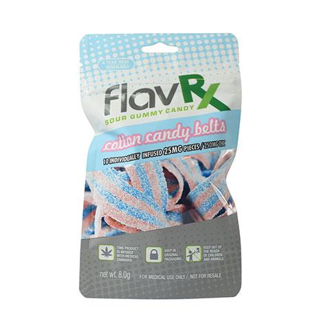 Gummy Belts Cotton Candy 250MG THC - FlavRX