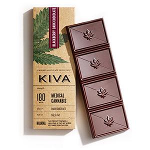 Chocolate - Blackberry Dark Chocolate Kiva 180mg