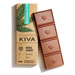Chocolate - Mint Irish Creme Milk Chocolate Kiva 180mg