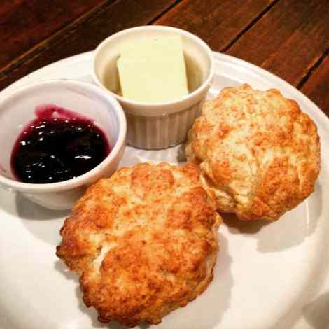 freshly baked scones at otis