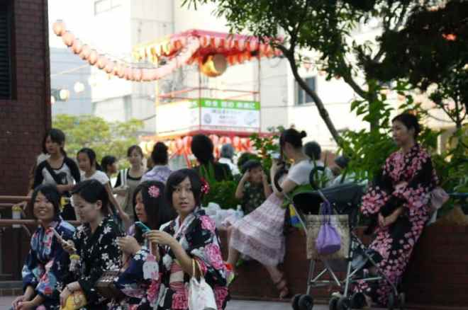 Shintenchi Park during the Toukasan-Yukata-Festival