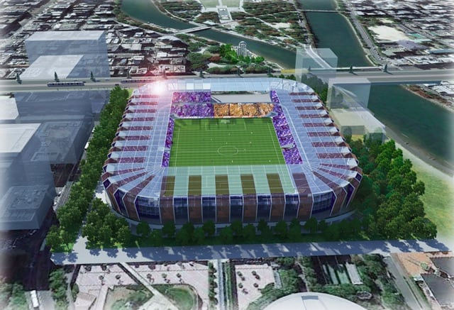 sanfrecce stdium proposal aerial