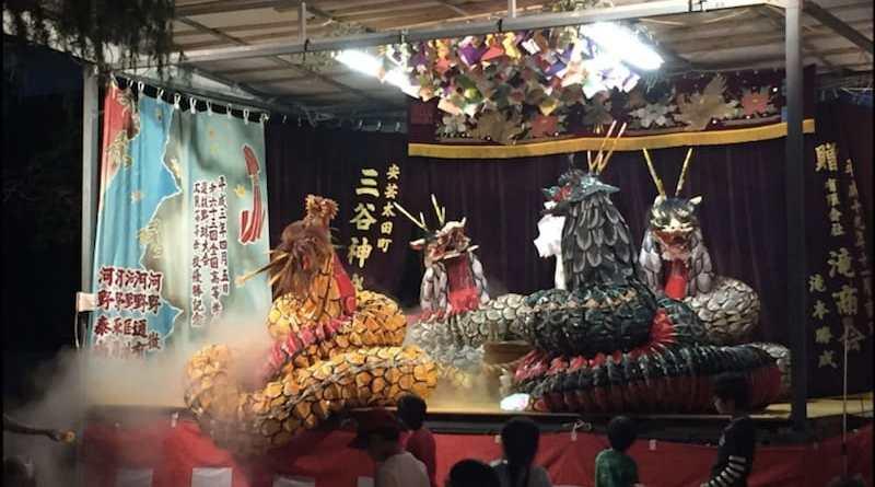 kagaura at hirose shrine autumn festival in hiroshima