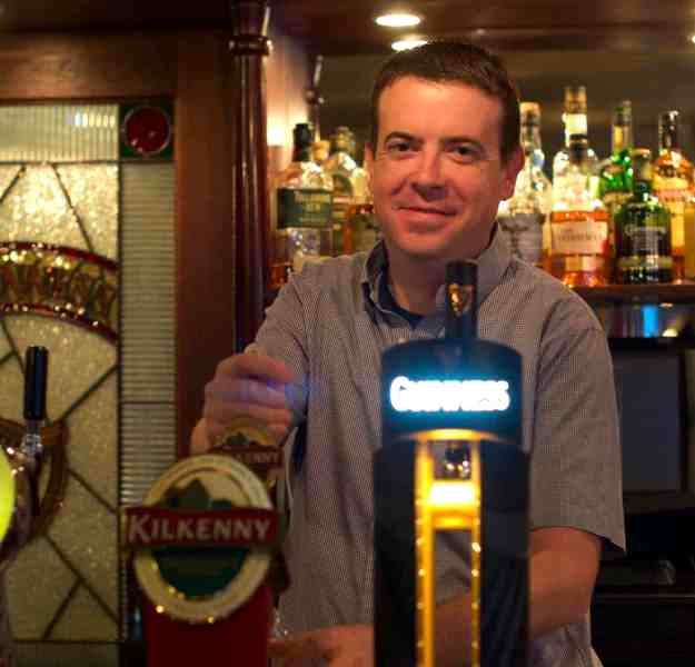 Mark, manager at Molly Malone's Irish pub in Hiroshima, Japan