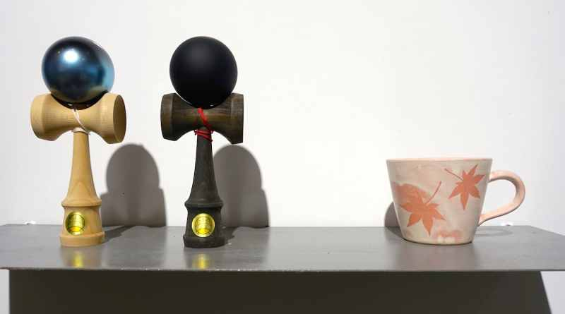 Kendama and Miyajima-yaki ceramic cup at Hiroshima Mono Koto Store
