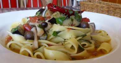 Nama-Pasta (Fresh) with shiso leaf & vegetables