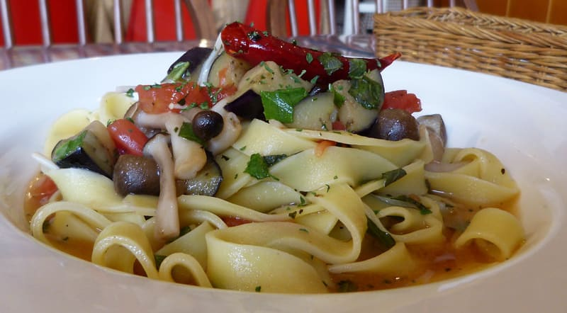 Nama-Pasta (Fresh) with shiso leaf & vegetables
