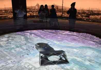 The Hiroshima Peace Museum's 3D graphic representation of the A-bombing