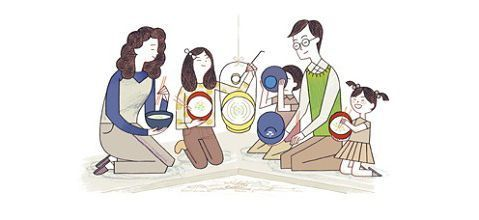 Nanakusa Google doodle Japan 7 healthy new year herbs