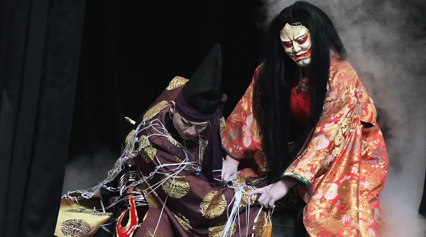 tsuchigumo performed by the Asashi-ga-Oka kagura troupe